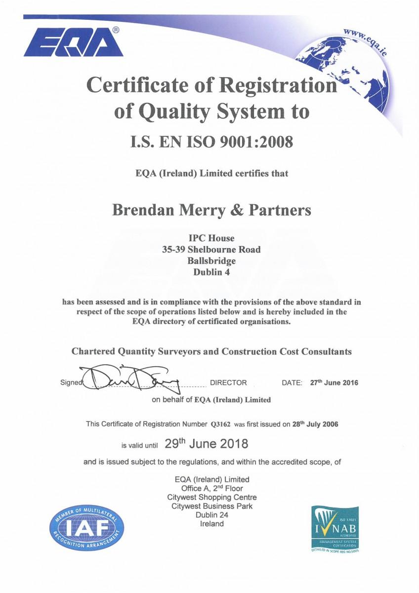 Brendan Merry Amp Partners Quality Assurance Quantity